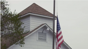 Sutherland Springs church flag at half staff