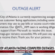 Atlanta ransomware server outage alert