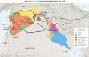 Iran's routes to the Mediteranean