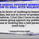 Student who does not agree with walkouts