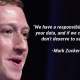 Zuckerberg quote about FB data security