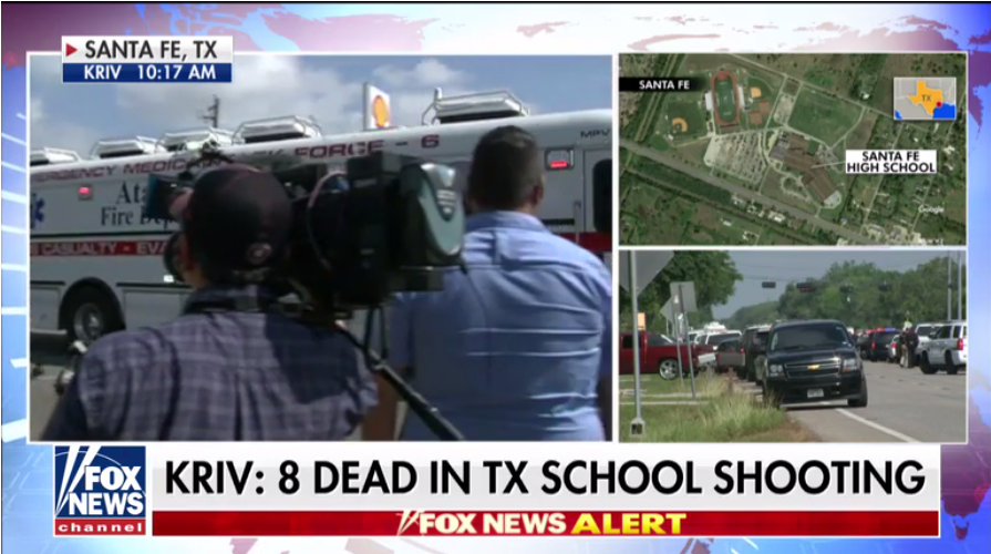 Texas high school shooting leaves 8-10 dead, 1 suspect in custody, 1 detained  5/19/18