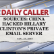 China hacked hillary email server