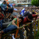 MIgrant caravan at Mexican border