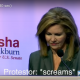 Marsha Blackburn ad showing protestors