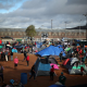 Migrants at Tujuana shelter near US border