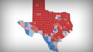 Texas-2018 Electoral Map-