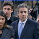 Cohen and family approach courthouse for sentencing