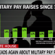 Military pay raises by year since 2008