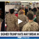 Trump signing hats for Troops - Fox