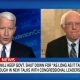 Sanders with Anderson Cooper