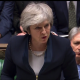 Theresa May at Brexit Parliment vote