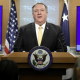 Pompeo announcing suspension of nuclear arms treaties with Russia