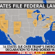 Trump - 16 states sue over emergency map
