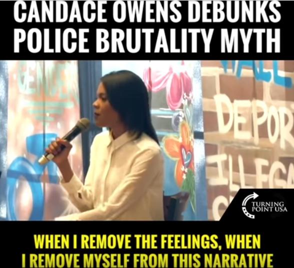 Candace Owens DEBUNKS Police Brutality MYTH!  2/19/19