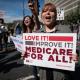 Medicare for all demonstrator in LA