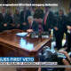 Trump veto - oval office attendance